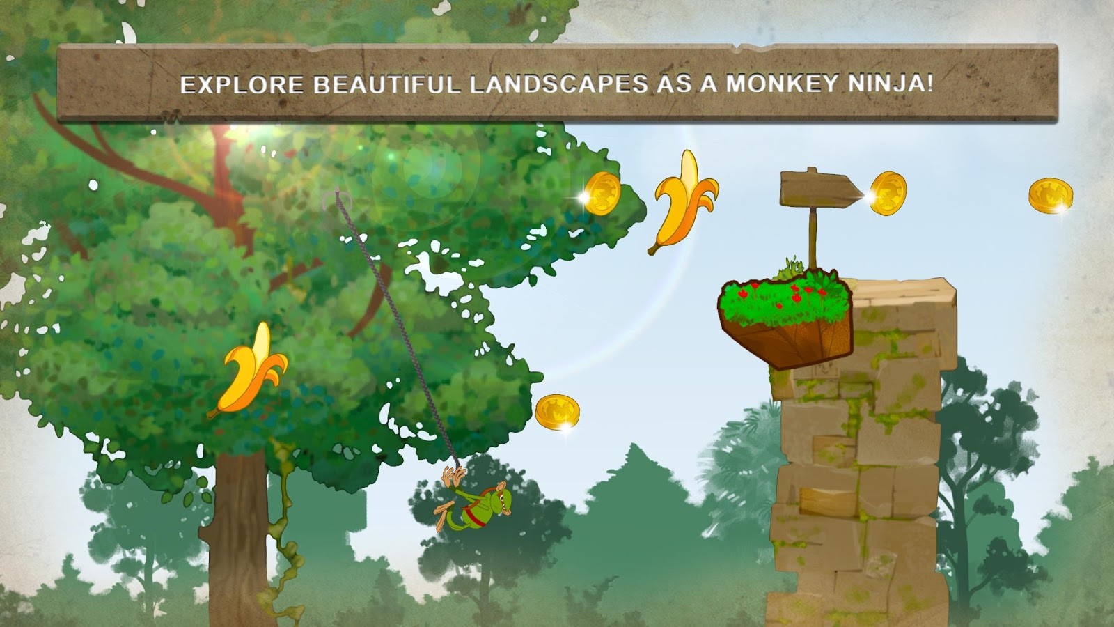 monkey hanger swing u0026 fly for bananas android apps on