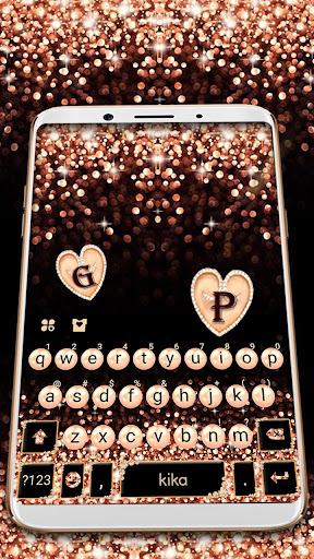 Gold Rose Pearl Luxury Keyboard screenshot 3
