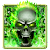 Green Flame Skull Keyboard theme file APK for Gaming PC/PS3/PS4 Smart TV