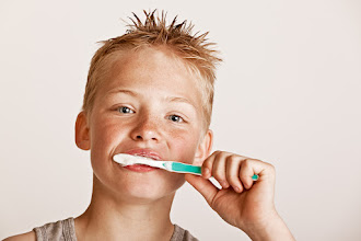 Photo: Just sent the boy to bed. He had many excuses why not to brush his teeth. I don't understand why it's such a big deal...