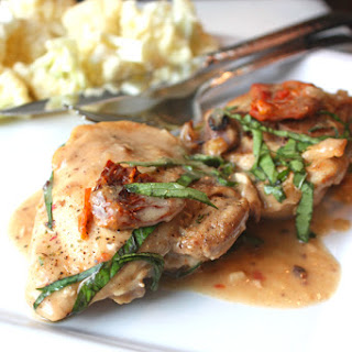 Chicken with Sun-Dried Tomato Coconut Cream Sauce.