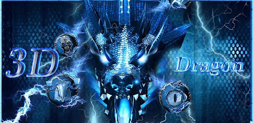 3d blue fire ice
