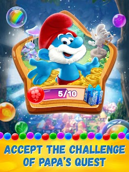 Smurfs Bubble Story apk screenshot