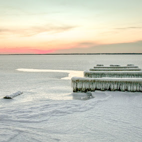 the Frozen bay by Desiree DeLeeuw - Landscapes Weather ( water, winter, ice, snow, frozen, landscapes,  )