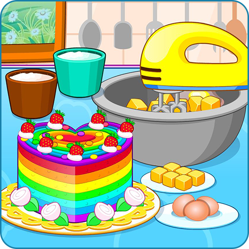 Cooking colorful cake (game)