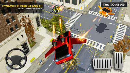 Flying Car Shooting Game: Modern Car Games 2020 apkmr screenshots 1