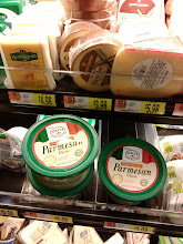 Photo: They didn't have any fresh parmesan-reggiano cheese so I had to walk all the way back to the pasta aisle and get non fresh.