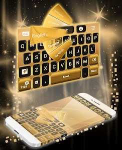 Neon Gold GO Keyboard screenshot 2