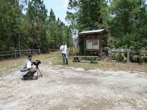 Photo: Interview at Longleaf Pine Preserve near Orlando (Florida).