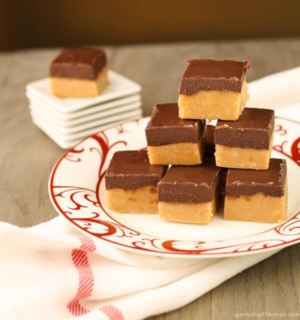 Peanut Butter Fudge with Chocolate Ganache Recipe