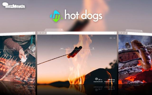 Delicious Hot Dogs Wallpaper for your new tab