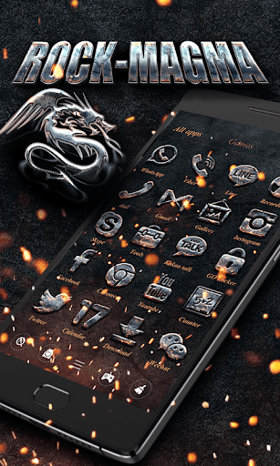 ROCK MAGMA GO Launcher Theme