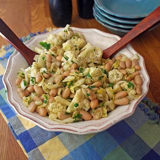 Cauliflower, Endive & White Bean Salad