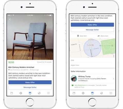 Tính năng của Facebook Marketplace