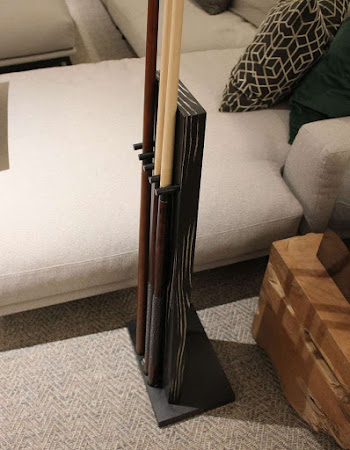 Black and White veneered pool cue stand