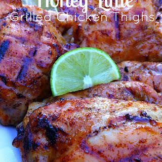 Honey Lime Glazed Grilled Chicken Thighs