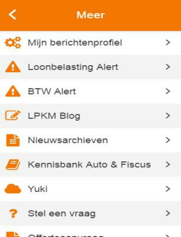 LPKM Administraties- screenshot