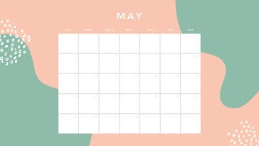 Tropical Monthly - Monthly Calendar template