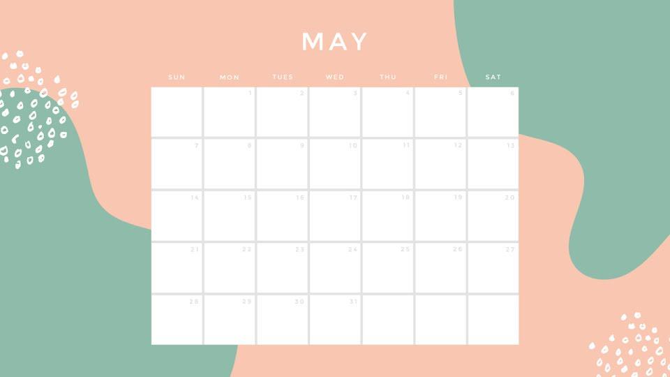 Tropical Monthly - Calendar Template