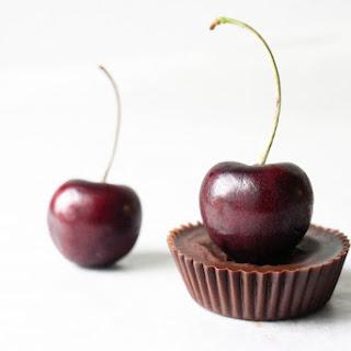 Dark Chocolate Cherry Cream Cups