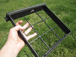 Photo: The empty air filter frame.