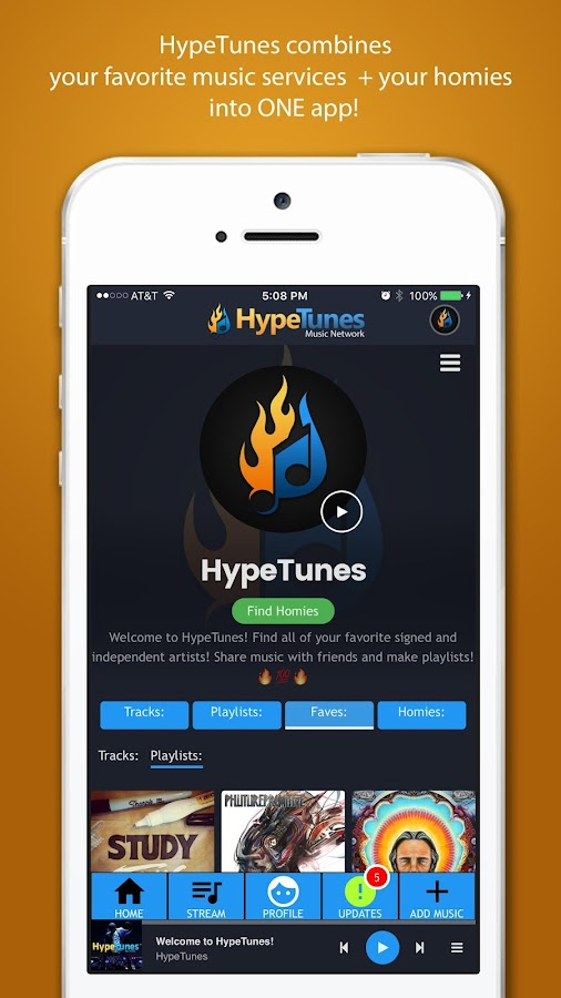 HypeTunes- screenshot