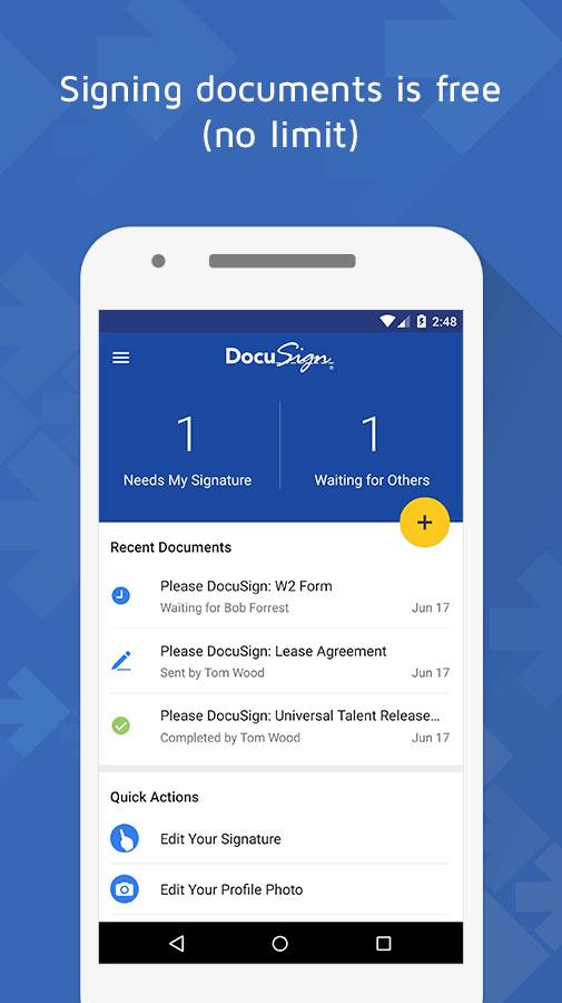 Docusign upload sign docs android apps on google play for Sign documents app free