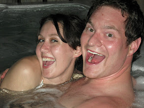 Photo: Fun times in the hot tub with Paul.