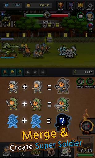 Grow Soldier - Idle Merge game apkdebit screenshots 9