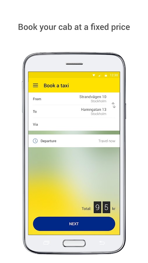 Sverigetaxi- screenshot