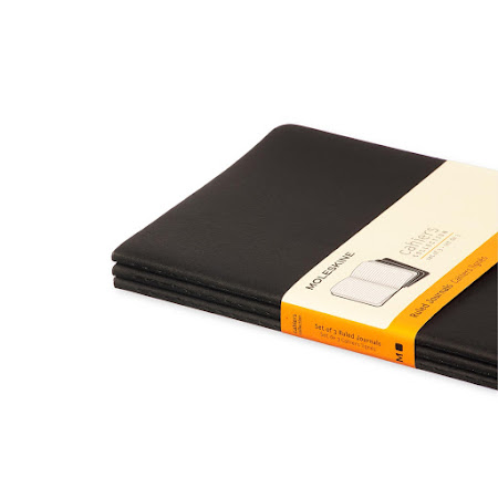 3 x Cahier Journal Large Black