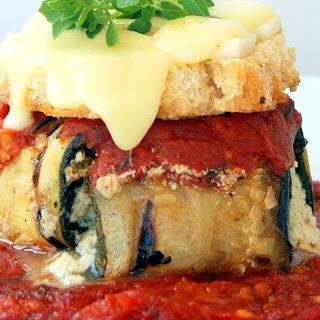 "Eggplant and Zucchini ""Parmesan"""