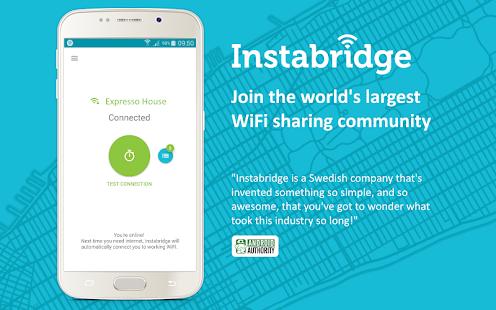 Instabridge - Free WiFi Screenshot 1