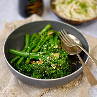 Stir Fried Broccoli With Sesame And Garlic.