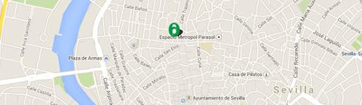 Onde estamos Cadastre-se no centro de Sevilla