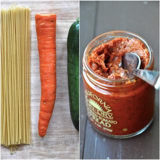 Three Color Pasta with Sun Dried Tomato Sauce
