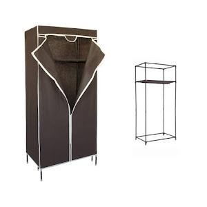 Suport / dulap pliabil mobil pentru imbracaminte 75 x 45 x 155 cm, culoare maro