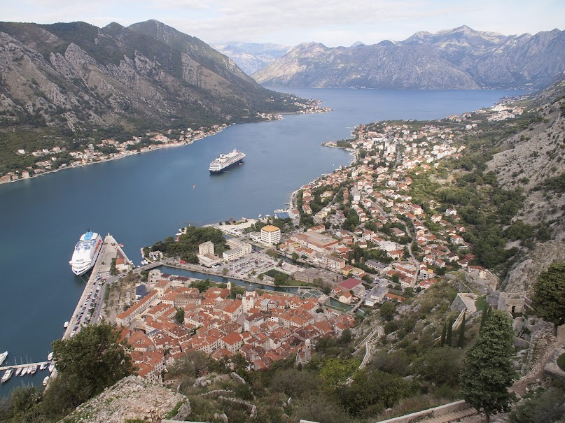 Cruiseships in Kotor Bay