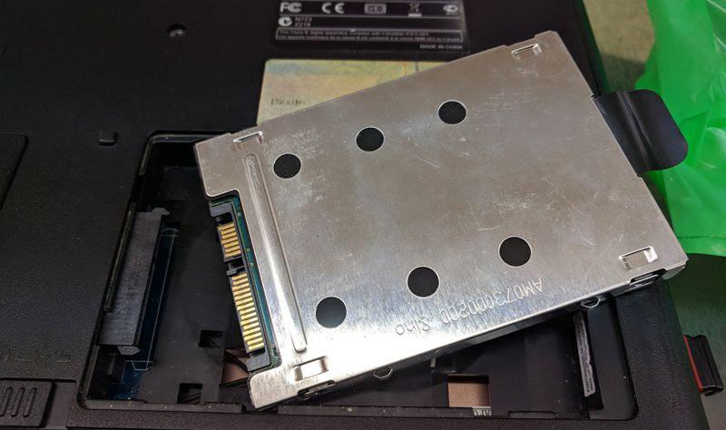 Sustituir el HDD de un laptop