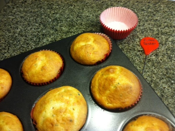 Preheat oven to 350 and line your cupcake pans with liners.  Fill liners...