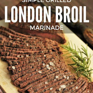 Grilled Marinated London Broil.