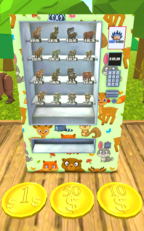 vending machine animals