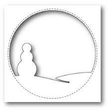 Memory Box Die - Stitched Circle Snowman