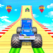 Impossible Monster Truck GT Stunt Car Racing Games