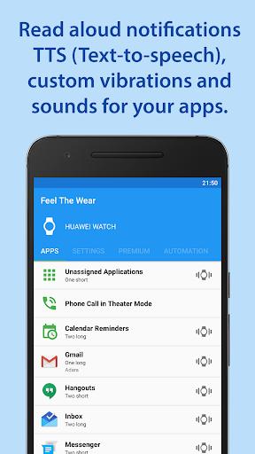 Feel The Wear – Notifications TTS v2.7.0 [Premium]