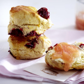 Cherry Scones with Jam and Mascarpone