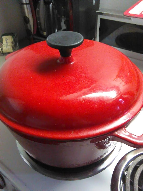 Place the chicken breast in a sauce pan with the water, garlic and onion...