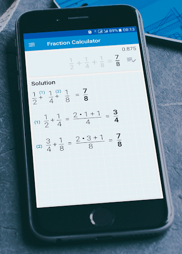 Fraction calculator: easy solve fractions problems 1.27 screenshots 2