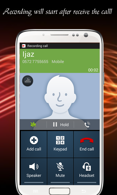 play recording during phone call