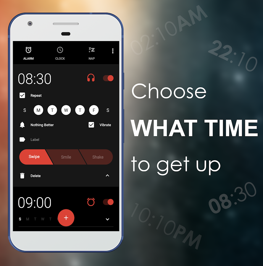 Nap Alarm Clock - For headphone, earbuds, in-ear- screenshot
